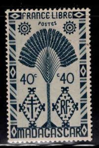 Madagascar Malagasy Scott 245 MH* Traveler's Palm tree 1943