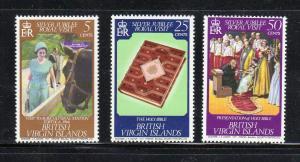 VIRGIN ISLANDS #324-326  1977  OVERPRINT ROYAL VISIT   MINT VF NH O.G