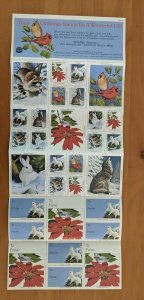 1994 National Wildlife Federation-Conservation Christmas Stamps Full Sheet of 30