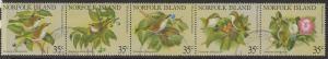 NORFOLK ISLAND SG269a 1981 WHITE-CHESTED WHITE EYE FINE USED