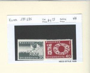 South Korea 284-285  MNH