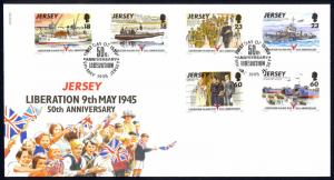 Jersey Sc# 710-715 FDC 1995 Liberation 50th Anniversary