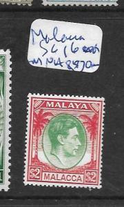 MALAYA MALACCA (P0101B) KGVI $2.00  SG 16  MNH
