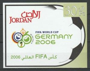 Jordan 2006 Football Soccer World Cup Germany 2006 MNH Block