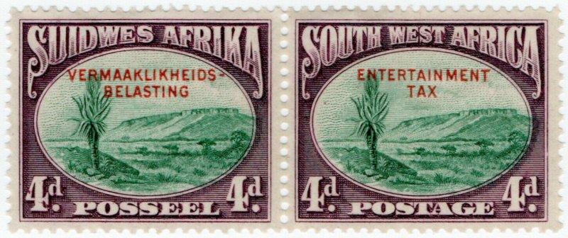 (I.B-BOB) South-West Africa Revenue : Entertainment Tax 4d