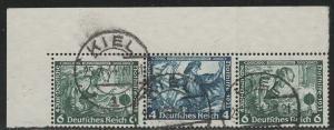 Germany Scott # B52 (2), B50, used, se-tenant, Mi # W48