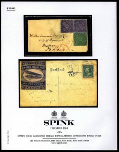 Spink auction catalog: The Collector's Series Nov. 18-19, 2015