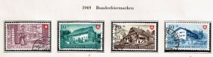 Switzerland Stamp 1949 Pro Patria USED STAMPS SET $21