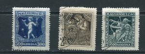 Hungary 1924 Mi 380-382 Used/CTO  7144