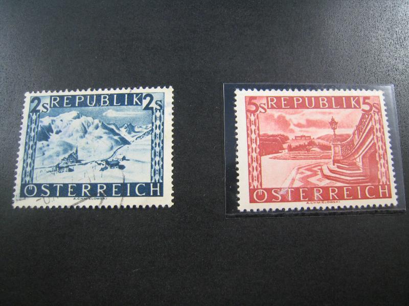 AUSTRIA - SCOTT #497, 499   MH & Used  (APS A-22)