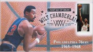 SC 4950, 2014, Wilt Chamberlain, Philadelphia 76ers, Basketball, Pictorial, FDC