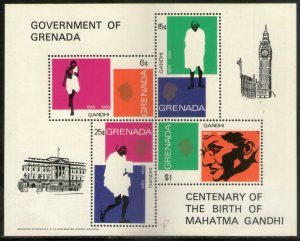 Grenada 1969 Mahatma Gandhi of India Birth Centenary Sc 340a M/s MNH # 9315