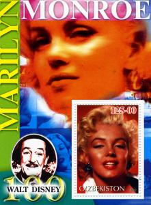 Uzbekistan 2002 Marilyn Monroe s/s mnh.vf Perforated