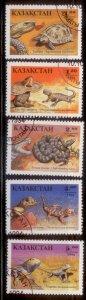 Kazakhstan 1994 SC# 83-7  Lizards CTO
