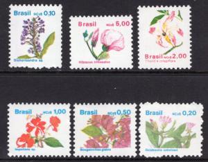 Brazil 2176-2181 Flowers MNH VF