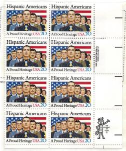 2103 Mint,OG,NH... Zip Block of 8... SCV $3.25