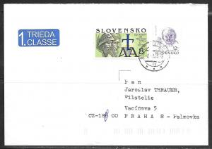 2005 Slovakia Pope stamp to Czech Republic