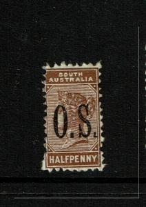South Australia SG# O65 Mint Light Hinged / Perf 15 - S6599