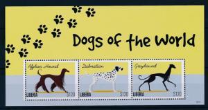 [35699] Liberia 2012 Animals Dogs MNH Sheet