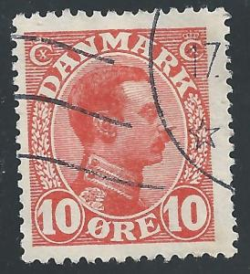 Denmark #100 10o King Christian X