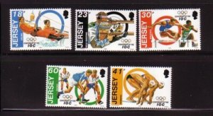 Jersey Sc 676-80  1994Olympic Committee  stamp set mint NH