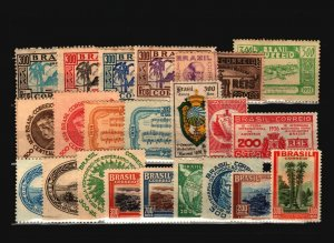 Brazil 23 Mostly Mint, with faults - C1916