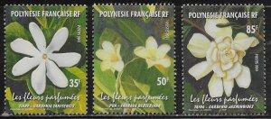 French Polynesia Scott #'s 812 - 814 MNH