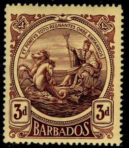 BARBADOS SG186a, 3d dp purple/yell, LH MINT. Cat £42.