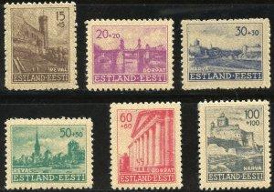 Estonia Scott NB1-NB6 Unused HMOG - 1941 German Occupation Set - SCV $5.00