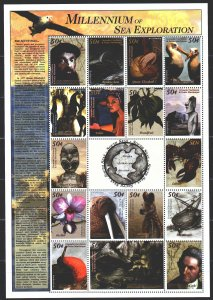 Grenada. 2000. Small sheet 3035-51. Millennium, geographical discoveries, Mag...
