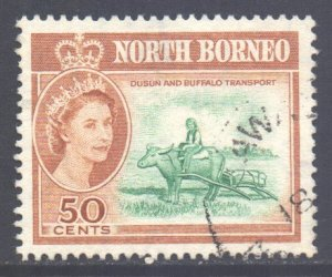 North Borneo Scott 290 - SG401, 1961 Elizabeth II 50c used