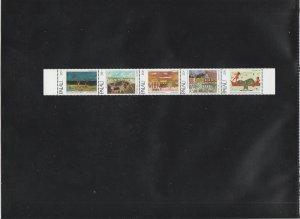 Palau  Scott#  32a  MNH Strip of 5  (1983 Christmas)