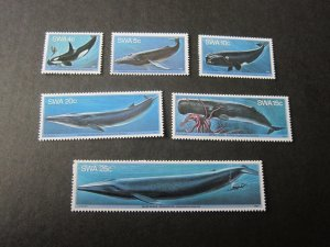 South West Africa 1980 Sc 37-42 fish MNH