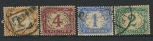 STAMP STATION PERTH Egypt #J15-J18 Postage Due Issue Used  1889