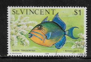 ST. VINCENT, 422, USED, QUEEN TRIGGERFISH