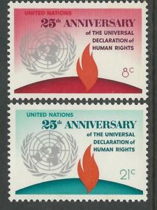 UN-NY # 242-43   Human Rights (2)  Mint NH