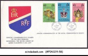 NEW HEBRIDES CONDOMINIUM - 1977 SILVER JUBILEE OF QEII - FDC