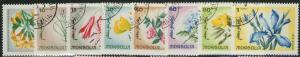 MONGOLIA CTO Scott # 422-429 Flowers (8 Stamps)