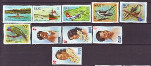 J22199 Jlstamps 1970,s niue sets mnh #136-8,139-41,143-6