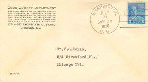 United States Scott 810 Typewritten Address