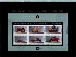 Canada Scott 1552 MNH**  Land vehicle souvenir sheet.