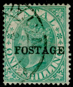 SOUTH AFRICA - Natal SG84, 1s green, FINE USED.