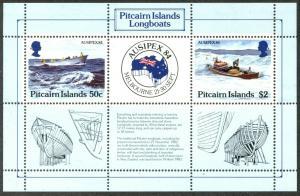 PITCAIRN IS. Sc#248, 257, 297, 320 1984-89 Four Souvenir Sheets Mint OG NH