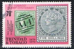 TRINIDAD & TOBAGO 180271 - 1979 70c Stamp Centenary used