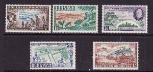 Southern Rhodesia-Sc#74-8-unused light hinged set-Local Scenes-1953-