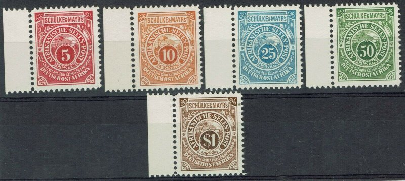 GERMAN EAST AFRICA 1892 SCHULKE & MAYR LOCAL SEAPOST SET MNH ** PERF 10.75