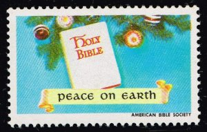 US STAMP CHRISTIAN LABEL STAMP PEACE ON EARTH