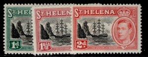 ST. HELENA GVI SG149-151, complete set, M MINT.