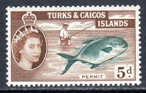 Turks & Caicos  1957   sg 243   5d  -  value   MM