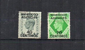 Morocco Agencies 1940 40c and 70c GB surcharges FU